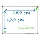 tableau blanc emaille eco 180 cm