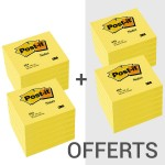 3M Post-it 76 x 76 mm jaune - 12+12 OFFERTS