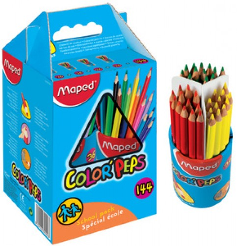 Maped crayons couleur COLOR'PEPS - triangulaire - pack spécial