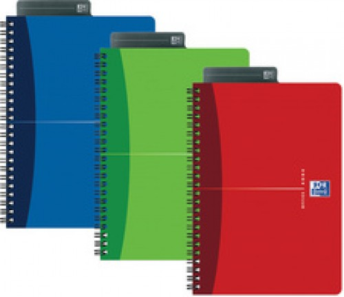 Oxford Office Cahier a spirale - A4 - quadrille - 180 pages - assorti