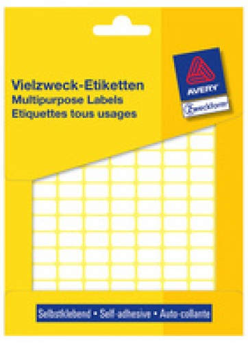 Avery étiquettes multi-usages - 18 x 12 mm - blanche