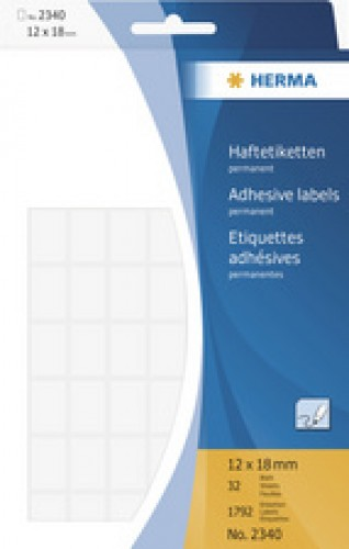 HERMA étiquettes multi-usage - 24 x 24mm - blanc - grand paquet