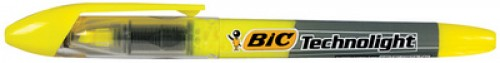"Bic Surligneur ""Technolight"" - jaune - technique Liquid Ink"