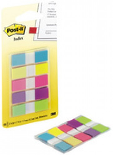 3M index Post-it Mini distributeur - 11 -9 x 43 -2 mm - 5 couleurs vives