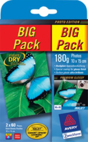 Avery Zweckform BIG PACK papier photo jet d'encre - 10x15 cm - 200 grs - 100F