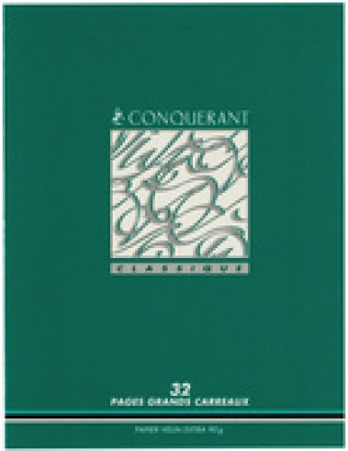 CONQUERANT Classique Cahier - Seyes - 96 pages - 170 x 220 mm