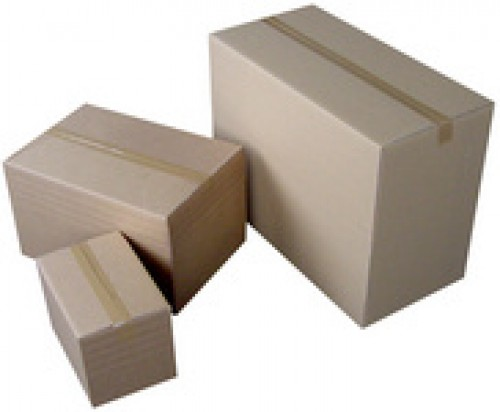 Carton d'emballage marron – 1 cannelure – 350x250x85