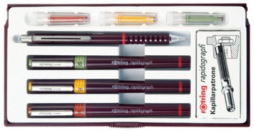 college set rotring 0.25 0.30 0.50