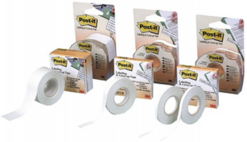 Post-it bande de correction repositionnable, 8,4 mm x 17,7 m (652H)