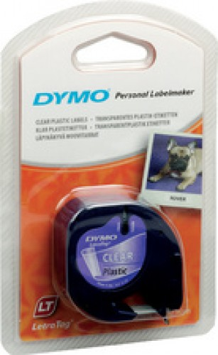 Ruban plastique - titreuse Letra Tag Dymo - 12 mm - transparent