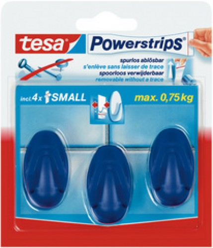 Tesa Crochets Powerstrips SMALL - oval - blanc