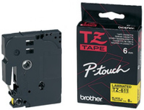 Cassette Brother TZE-B31 - 12 mm - noir / orange fluo