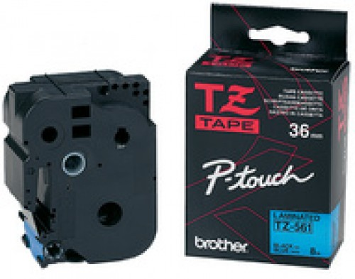 Cassette Brother TZE-161 - 36 mm - noir / transparent