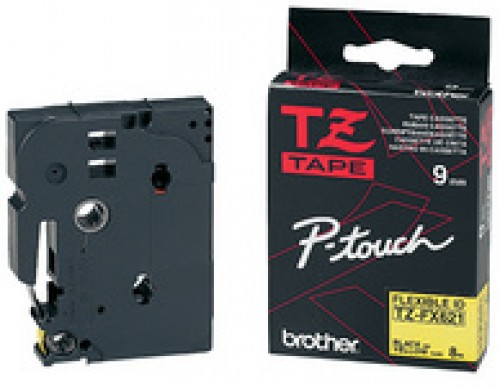 Cassette Brother TZE-S211 extra solide - 6 mm - noir / blanc