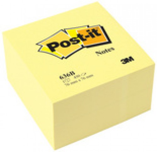 3M Bloc cube post-it - 76 x 76 mm - 450 feuilles - jaune