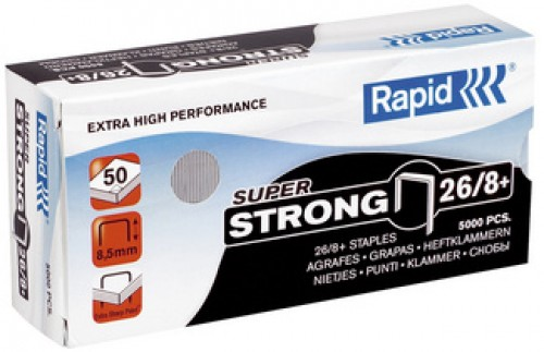 Rapid agrafes Super Strong 66/8+ - galvanisé