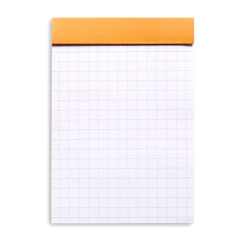 Bloc note RHODIA agrafé No. 13 - format A6 - carreaux - orange