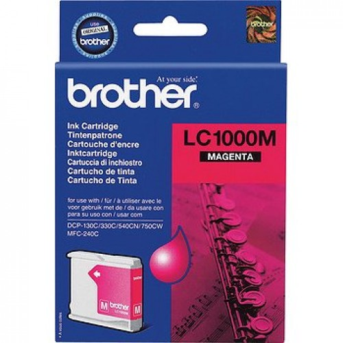 Cartouche d'encre Brother LC1000M - magenta