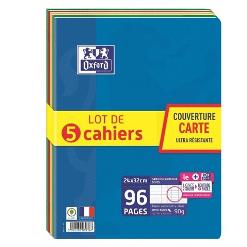 paquet grands cahiers 24x32
