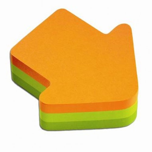 post-it en forme de flêche