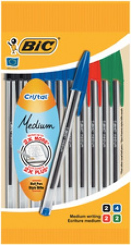 Stylo bille Cristal Medium sachet de 10