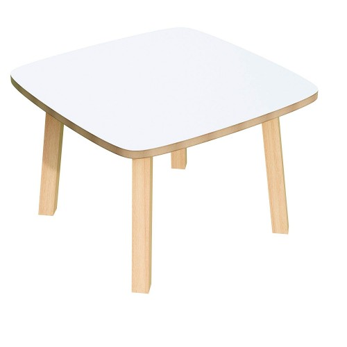 table basse plateau blanc