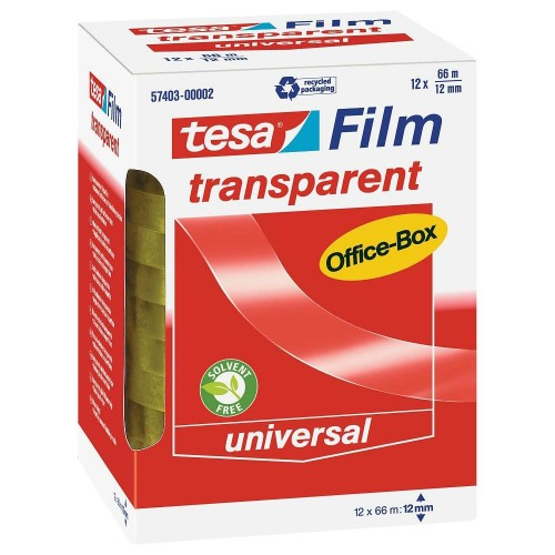 tesafilm transparent 12 x 66m x 12mm