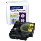 Cassette ruban Dymo en nylon flexible - 19 mm - noir / jaune