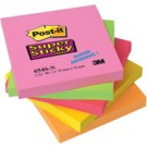 3M Post-it Notes repositionnables Super Sticky néon - 76 x 76mm