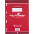 CONQUERANT Feuilles simples - Format A4 - grand carreau - 90 gr - 200 pages