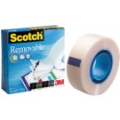 3M Scotch Ruban adhésif Magic 811 - repositionnable - 19 mm x 33 m
