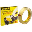 3M Scotch Ruban adhésif double face 665 - 12 mm x 6 -3 m