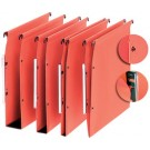 Dossiers suspendus pour armoires - Oblique Medium - 220g - fond 30 mm - 25 pcs - orange