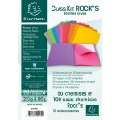 Lot de 50 chemises et 100 sous-chemises couleurs vives assorties