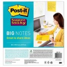 Post-it Grandes notes adhésives Super Sticky 279 x 279 mm