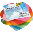 Bloc cube en spirale MINI 75 x 75 mm - folia - assorti