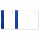 Ticket à souche - carnet tombola bleu- dimensions: (L)135 x (H)60 mm