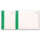 Ticket à souche - carnet tombola vert - dimensions: (L)135 x (H)60 mm