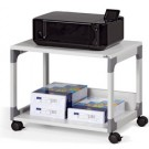 Desserte de bureau mobile Multi Trolley 48 - 2 tablettes - gris