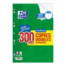 Feuilles doubles Oxford - A4 - grand carreau - 90 gr - 300 pages