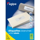 agipa Etiquettes multi-usage - 38x21,2 mm - blanc - coins droits