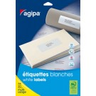 agipa Etiquettes multi-usage - 50 x 20 mm -  blanches