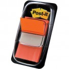3M Post-it Index orange - etroit - 50 Index - 25,4 x 43,2 mm
