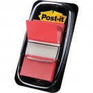 3M Post-it Index rouge - etroit - 50 index - 25,4 x 43,2 mm