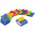 Distributeur de Post-it Z-Notes bleu clair avec 12 paquets de Post-it