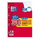 Feuilles simples - A4 - grand carreau - 90 gr - 300 pages - promo