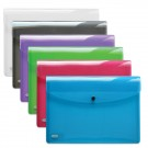 Pochette porte-document HAWAI - format A4 - en plastique - couleurs assorties