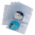 Pochette perforée CD-/DVD COVER LIGHT M - pour 4 CD's - 10 pcs