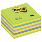 3M Post-it Bloc cube - 76 x 76 mm - vert Neon