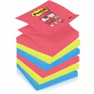 Post-it Super Sticky Z-Notes - 76 x 76 mm - 9 blocs - couleur Bora Bora
